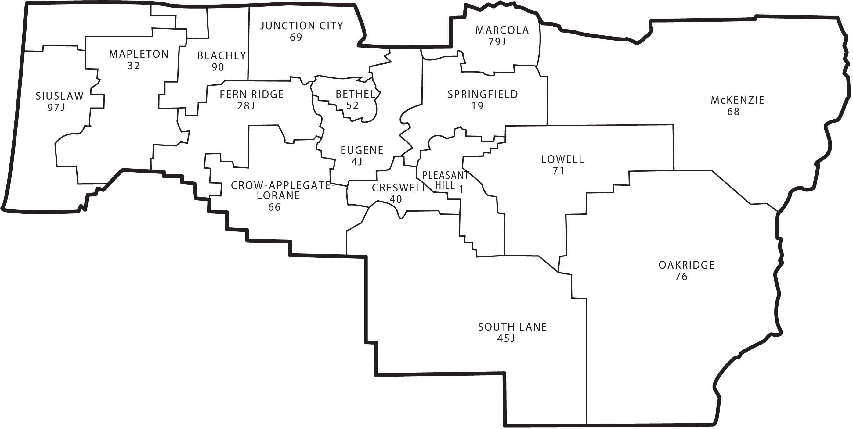 Lowell Oregon Map.Lane County School Districts
