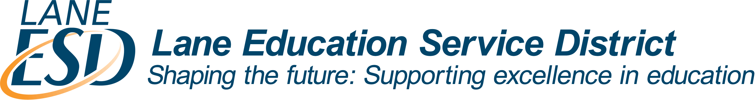 Lane ESD Logo and Core Purpose - Shaping the Future: Supporting Excellence in Education
